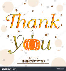 background for thanksgiving stylish text thank you pumpkin on stock vector 229958938