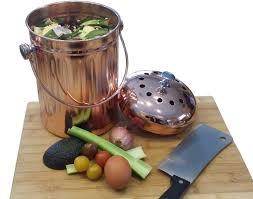 compost pail bin bucket for indoor kitchen countertop copper 3