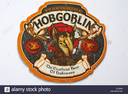free halloween images on white background beer mat wychwood brewery hobgoblin the unofficial beer of