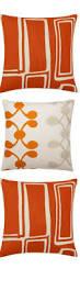 stockinette orange throw pillow orange throw pillows