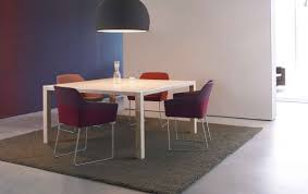 contemporary table wooden square rectangular expression by