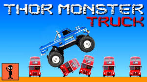 thor monster truck games kids play android gameplay funny