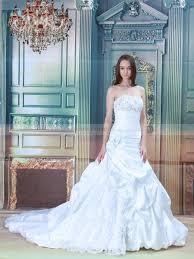 strapless beaded and flower detailed satin mermaid wedding dress