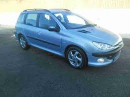 peugeot estate cars for sale peugeot 2003 206 sw d turbo hdi light met blue hi spec estate car
