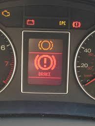 audi brake light brake pad sensor warning light brake pad wear indicator telling