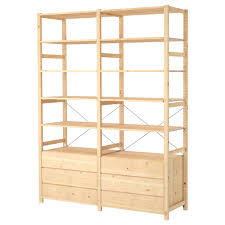 ivar 2 section shelving unit with chest ikea