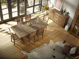 country reclaimed solid wood farmhouse dining table set at gowfb