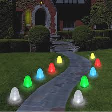 halloween yard lighting christmas pathway lights 10 led 8