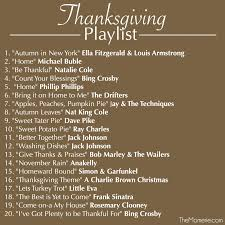 thanksgiving playlist the momerie