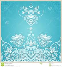 Royal Blue Wedding Invitation Cards Blue Wedding Invitation Design Template With Doves Hearts Stock