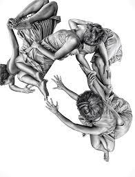 leah yerpe contemporary artist modern black u0026 white drawings