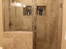 Stone Tile Bathroom Ideas by Bathroom Brown Tile Stone Tile Mid Sized Transitional Master