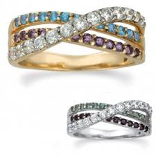 gold mothers rings artcarved birthstone mothers rings samuels jewelers