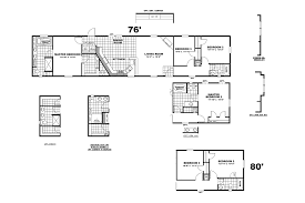 3 bedroom single wide mobile home floor plans sierra vista 16763c