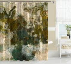 Gray And Brown Shower Curtain - contemporary shower curtain brown olive khaki beige gray blue