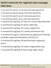 top 8 regional sales manager resume samples