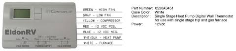 thermostat digital 12v 7 wire for coleman mach heat pumps