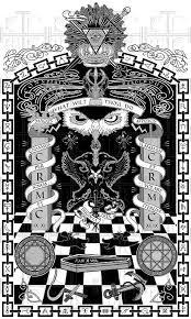 imagery pyramid one eye symbolism checkerboard pattern freemason columns