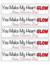 you make my heart glow valentine free printable