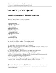 Warehouse Packer Resume Packer Job Description Resume Resume For Your Job Application