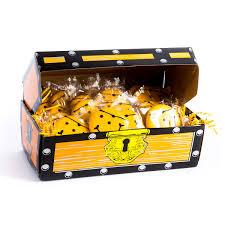 our treasure chest full of 40 wrapped mini pirate cookies is the