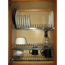 furniture home cabana in cabinet dish drying and storage rack