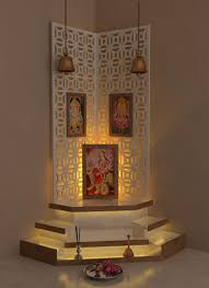 beautiful interiors indian homes best pooja room design by interior designer kamlesh maniya
