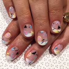 happy birthday french manicure