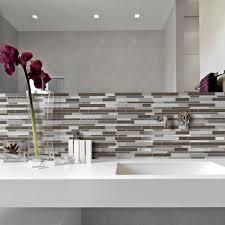 Backsplash Smart Tiles Minimo Roca 11 55 In W 9 64 In H Peel And Stick