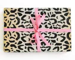 zebra print wrapping paper animal gift wrap etsy