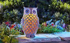 Solar Garden Ornaments Outdoor Decor Solar Powered Barn Owl 2 Eye Lit Led Light Garden Ornament Outdoor