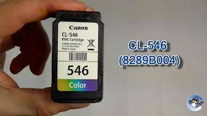 how to refill canon cl 546 8289b004 colour ink cartridge youtube