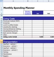 Track My Spending Spreadsheet by Monthly Expense Tracker Calculator Spending Planner Personal