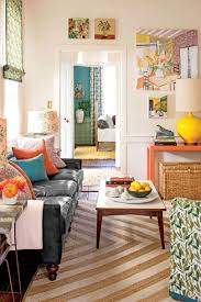Open Concept Living Room by 10 Colorful Ideas For Small House Design Southern Living
