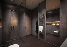 gray and white bathroom ideas dark brown varnished wooden frame