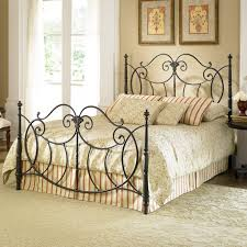 wrought iron bed frames white floor rug glass door classic bedding