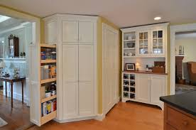 Corner Floor Cabinet Kitchen Corner Kitchen Set Design Gray Paint - Floor to ceiling cabinets for bathroom