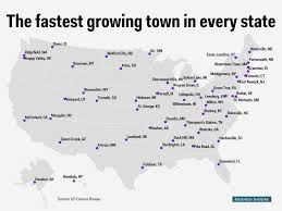 Map Of Vermont Towns The Fastest Growing Town In Every State Mental Floss
