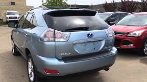 used lexus rx 350 hybrid pre owned 2008 blue on grey lexus rx 400h 4wd hybrid in depth