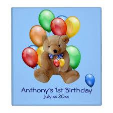 baby boy photo album baby boy 1st birthday photo album binder zazzle