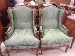 French Wingback Chair Pair French Wing Back Armchairs French Antiques Melbourne
