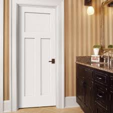 home depot pre hung interior doors jeld wen 32 in x 80 in craftsman white painted left smooth