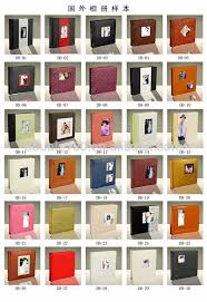 professional leather photo albums hot sale design leather wedding photo album cover with inner sheet
