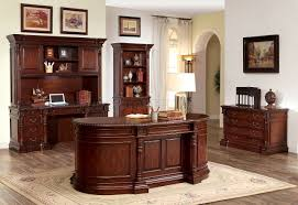 roosevelt cm dk6252od oval office desk in cherry w options