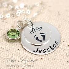 footprint necklace personalized sted baby footprint necklace personalized new