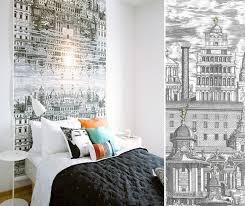 papier peint original chambre une tête de lit avec du papier peint pour une chambre au fil