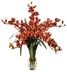 Silk Flower Arrangements Cymbidium Orchid Silk Flower Arrangement Traditional