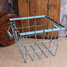 Shabby Chic Wire Baskets by 171 Best Wire Baskets Wicker Baskets Images On Pinterest Basket
