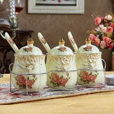 wooden canisters kitchen kitchen accessories floral ceramic decorative kitchen canisters