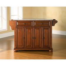 crosley kitchen island alexandria granite top kitchen island wood cherry crosley target